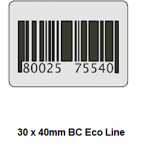 Checkpoint 3510 ECON BC 30 x 40 mm dummy barcode (1000 stickers op een rol) Prijs per rol: