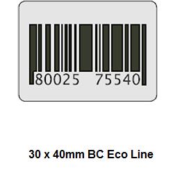 Economy RF beveiligingsstickers 30 x 40 mm voorzien van dummy barcode. Worden geleverd per rol van 1000 labels. Deactiveerbaar[…] Lees Meer…