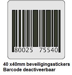 RF beveiligingsstickers 40 x 40 mm dummy barcode 2000 stickers per rol. Deactiveerbaar. Alle stickers zijn vooraf getest op functionaliteit voor een optimale beveiliging. Kern ø: 76 mm, buitenmaat ø: 210 mm. Alle labels zijn apart getest voor een optimalebeveiliging van uw producten.[…] Lees Meer…